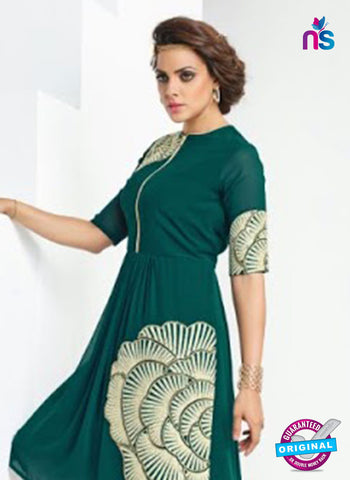 AZ 4020 Green Georgette Designer Tunic