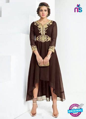 AZ 4021 Brown Georgette Designer Tunic