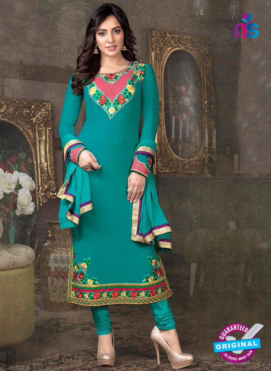 Fiona 804 Seagreen Embroidered Georgette Party Wear Designer Suit