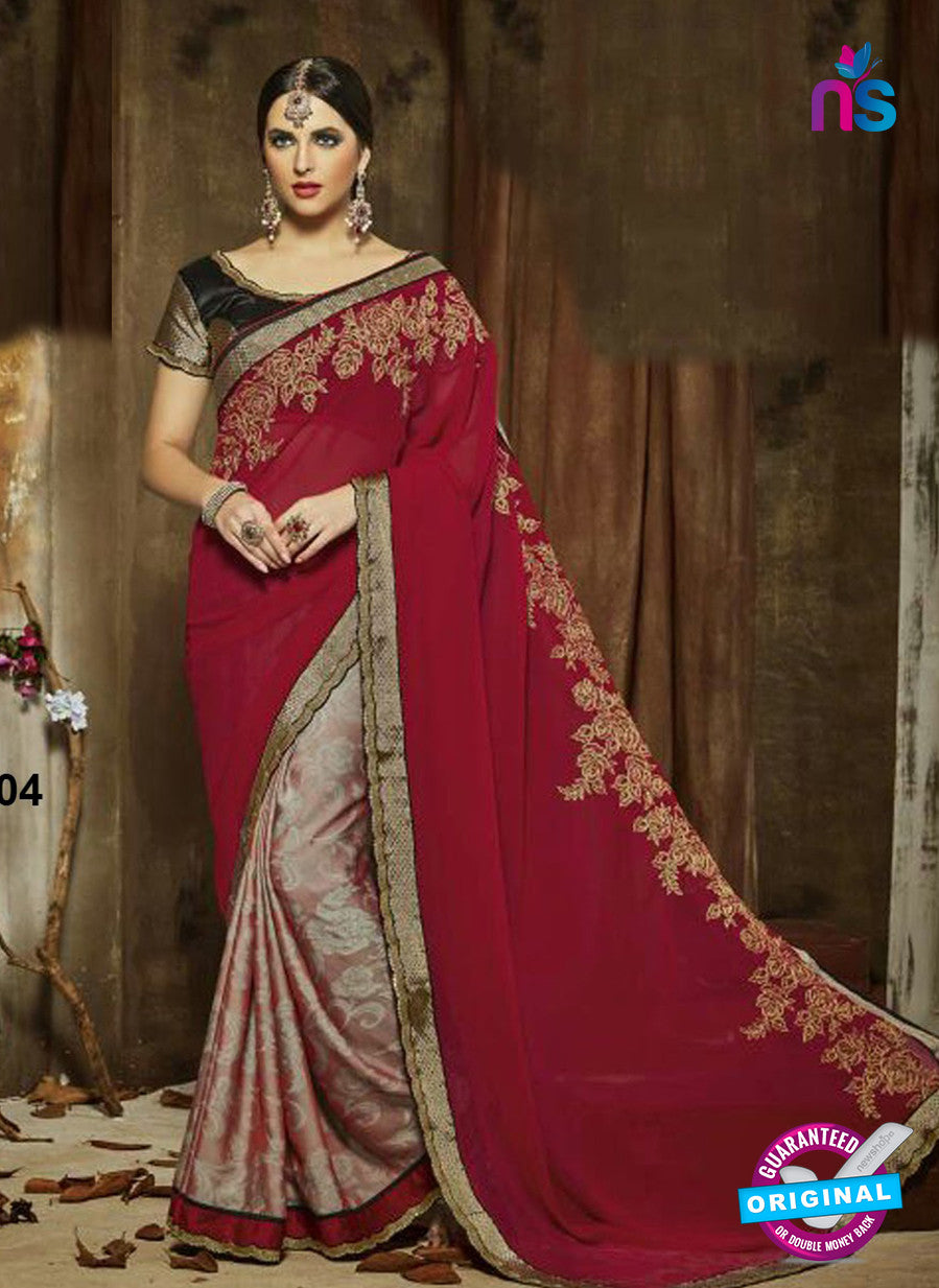 SC 14274 Maroon Georgette Party Wear Saree