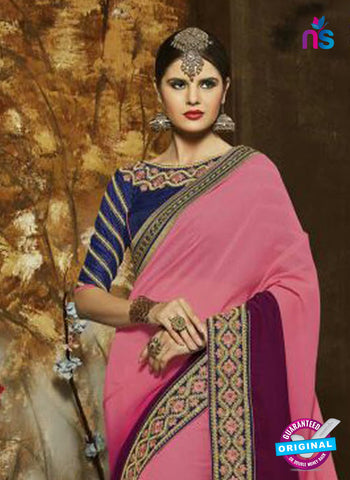 SC 14275 Pink Georgette Party Wear Saree
