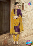 SC 14140  Purple and Yellow Cotton Formal Suit