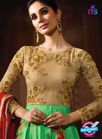 Karma 8056 Green Anarkali Suit