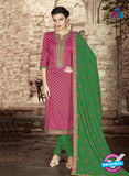 SC 14142  Pink and Green Cotton Formal Suit