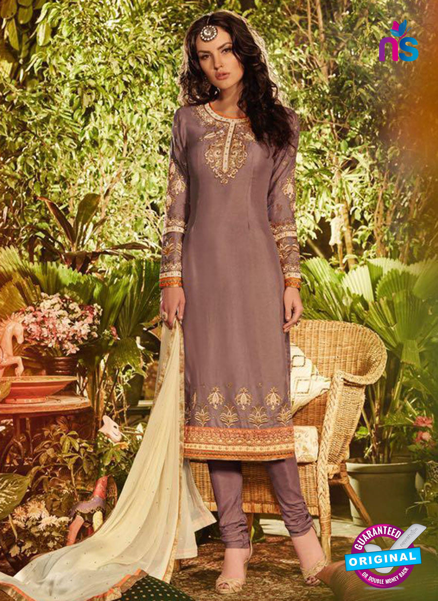 SC 13908 Beige Georgette Occasional Wear Long Designer Straight Suit