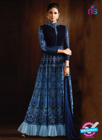 Karma 8060 Blue Anarkali Suit