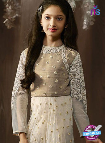 Karma 8074 A White Anarkali Suit