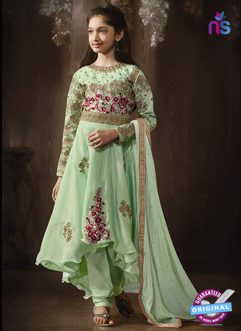 Karma 8077 A Green Anarkali Suit