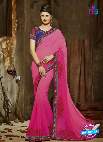 SC 14277 Pink Georgette Party Wear Saree
