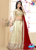 SC 13624 Beige and Maroon Designer Fancy Exclusive Ethnic Wedding Wear Lehenga Choli