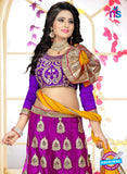 SC 13625 Purple and Yellow Designer Fancy Exclusive Ethnic Wedding Wear Lehenga Choli