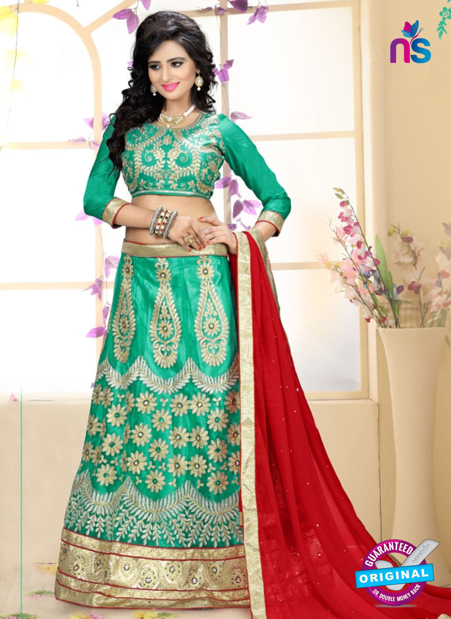 SC 13622 Sea Green and Red Designer Fancy Exclusive Ethnic Wedding Wear Lehenga Choli