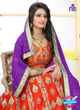 SC 13628 Orange and Purple Designer Fancy Exclusive Ethnic Wedding Wear Lehenga Choli
