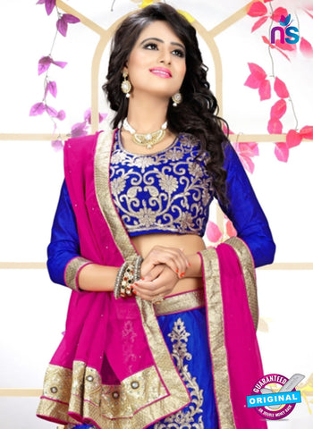 SC 13627 Royal Blue and Pink Designer Fancy Exclusive Ethnic Wedding Wear Lehenga