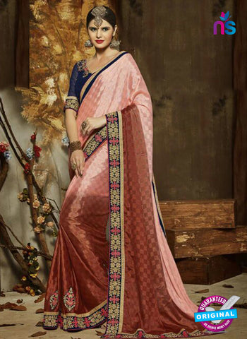 SC 14279 Brown Latest Party Wear Saree