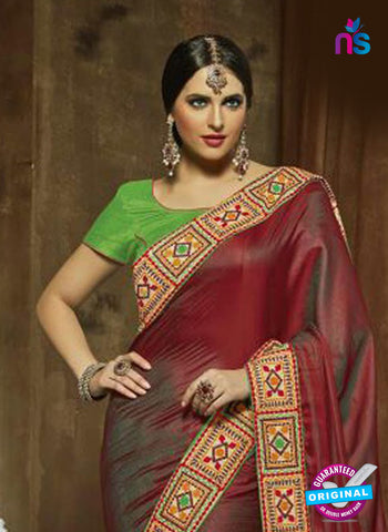 SC 14280 Maroon Georgette Party Wear Saree
