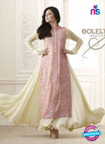 NS11017 Rose Pink and Beige Designer Anarklai Suit