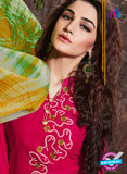 SC 14197 Pink Cambric Cotton Patiala Suit