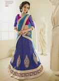 NS11801  Blue & Pink Color Net Designer Lehenga