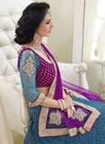 NS11804  Blue & Purple Color Net Designer Lehenga