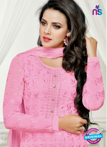 Zisa 8213 Pink Georgette Party Wear Suit
