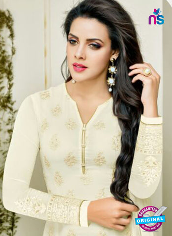 Zisa 8214 White Georgette Party Wear Suit