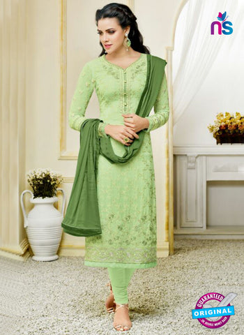 Zisa 8215 Green Georgette Party Wear Suit