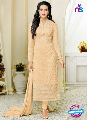Zisa 8216 Peach Georgette Party Wear Suit
