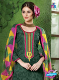 NS10533 Green and Pink Pure Brasso Cotton Straight Suit Online