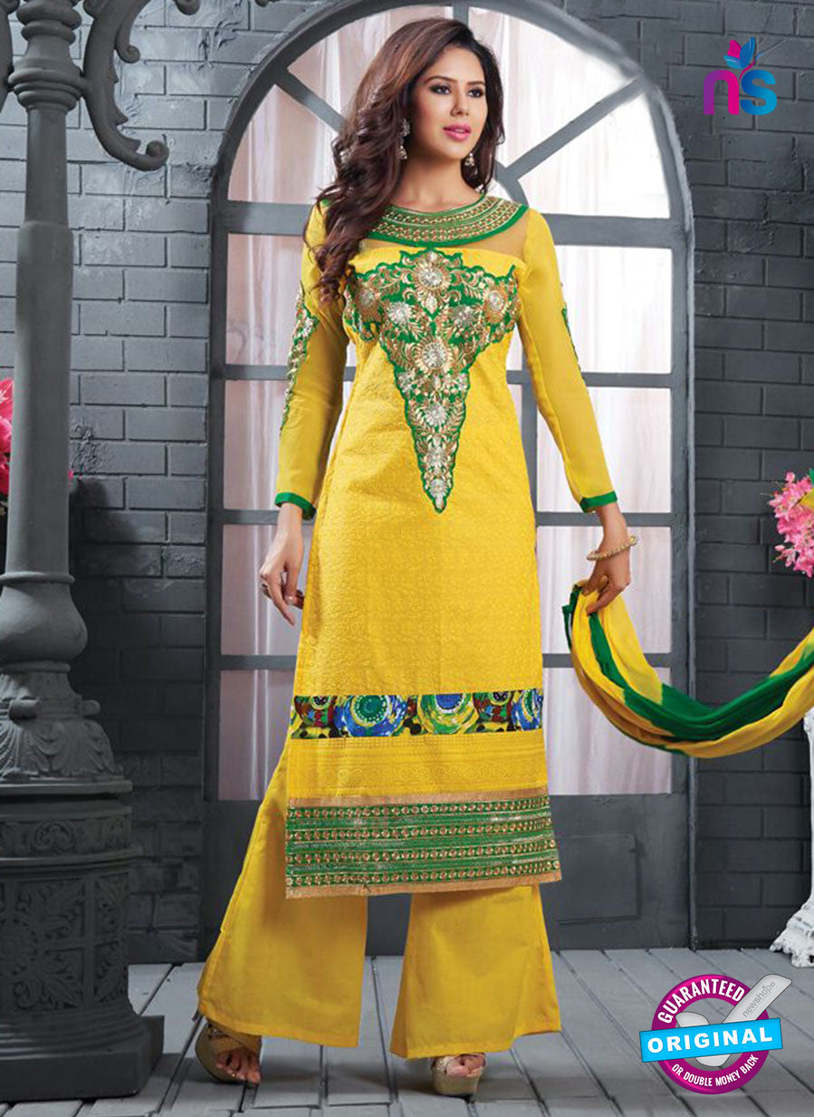 NS12140 Yellow and Green Straight Suit