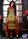NS12143 Yellow and Red Straight Suit