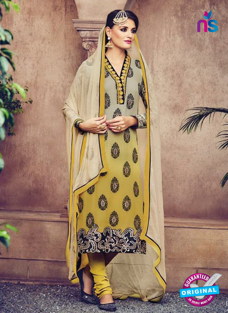 Omtex 83 Yellow  Georgette Suit