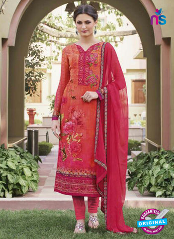 Glossy 8417 Orange Formal Georgette Suit