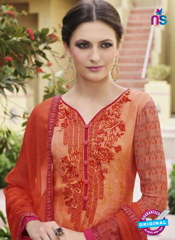 Glossy 8419 Orange Formal Georgette Suit