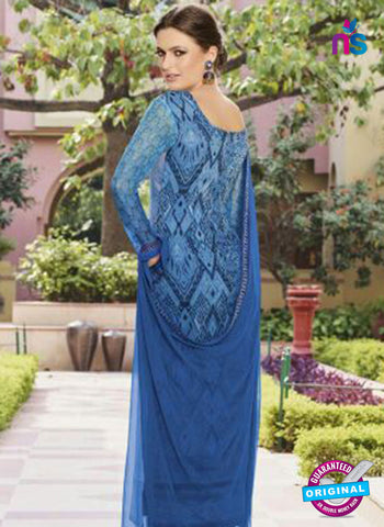 Glossy 8420 Blue Formal Georgette Suit