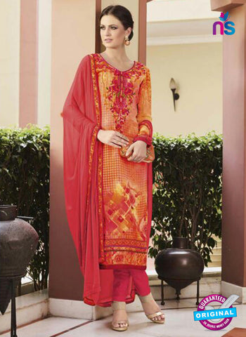 Glossy 8421 Yellow Formal Georgette Suit