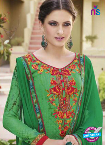 Glossy 8422 Green Formal Georgette Suit
