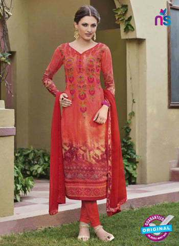 Glossy 8423 Red Formal Georgette Suit