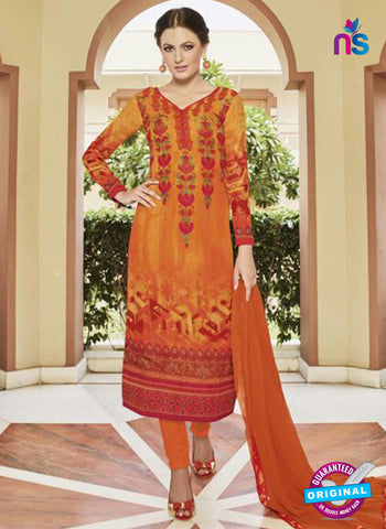 Glossy 8424 Orange Formal Georgette Suit