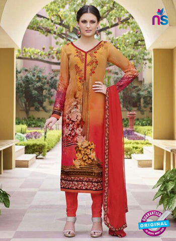 Glossy 8426 Yellow Formal Georgette Suit