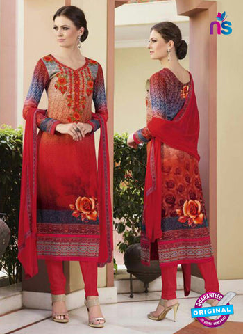 Glossy 8427 Red Formal Georgette Suit