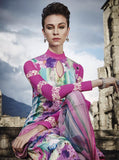 Jinaam 8459 Multicolor Glace Cotton Designer Suit