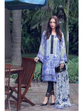 NS11260 White and RoyalBlue Daily Wear Printed Satin Pakistani Suit