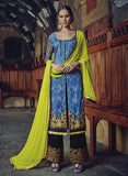 Jinaam 8582 Blue & Black Color Glace Cotton Designer Suit