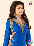 SC12710 Blue and Green Banglaore Silk Party Wear Designer Anarkali Suit