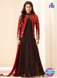 SC12711 Red and Brown Silk Party Wear Designer Gawn