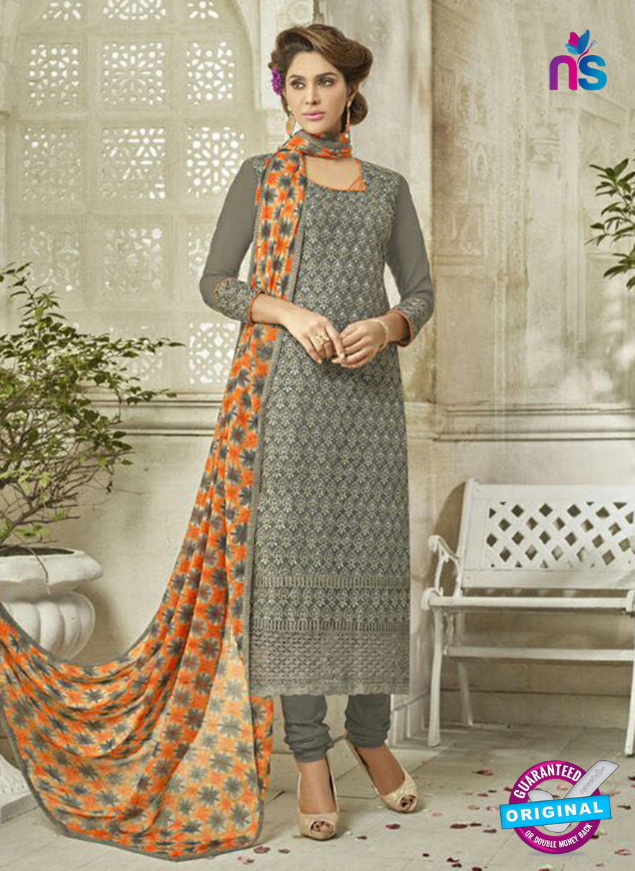 SC 14128 Grey Georgette Formal Suit