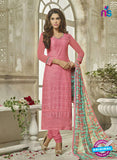 SC 14119 Pink Georgette Formal Suit
