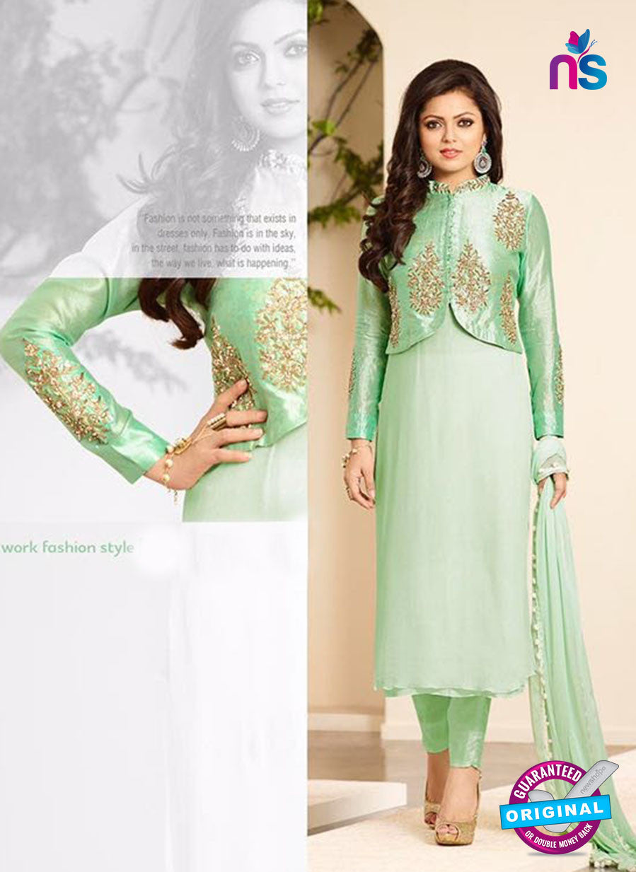 SC12715 Green Silk Party Wear Designer Suit