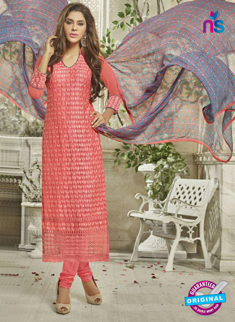 SC 14121 Peach Georgette Formal Suit